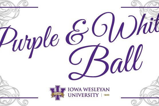 IW purple and white ball