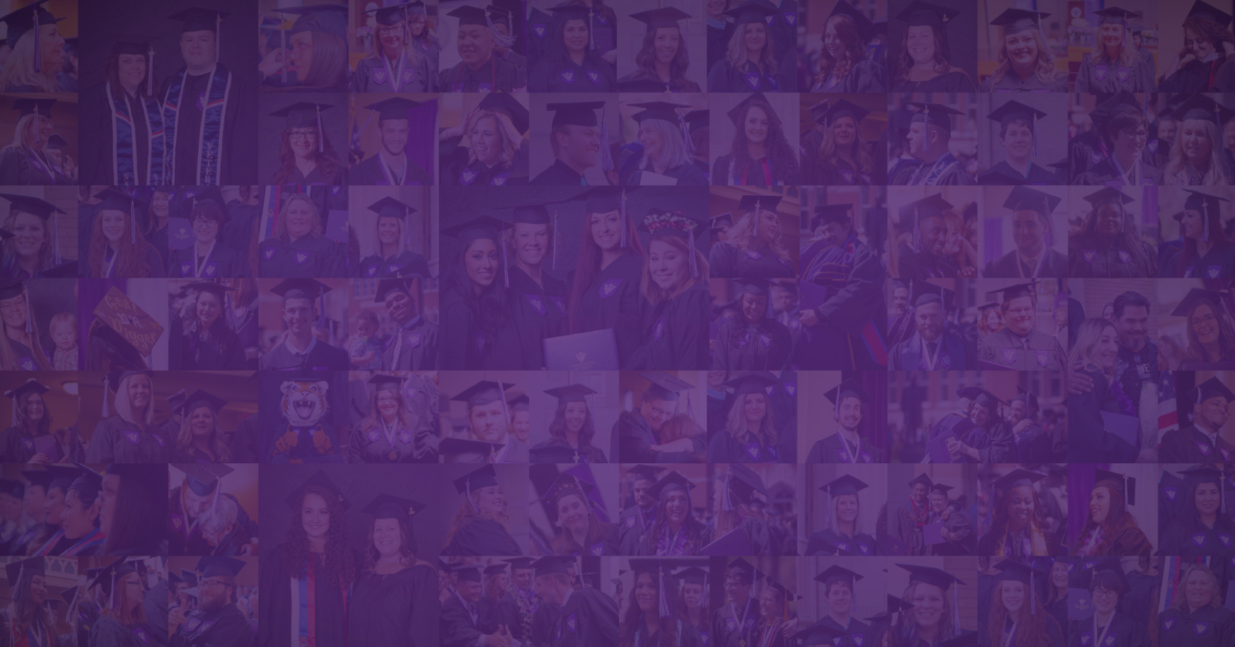 Background image with college graduates