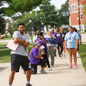 iowa wesleyan students posing for a picture